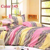 40 4 pcs Printed Bedding Bed Set Bedcover Home decor Home textile Fashion Bedding Brand Bedding Sets Plaid 4PCS Duvet Quilt Cover Bedclothes