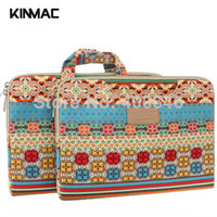 Tote leather canvas laptop bag - KinMac canvas bohemia quot laptop sleeve Leather Laptop bag inch case for macbook air retina pro