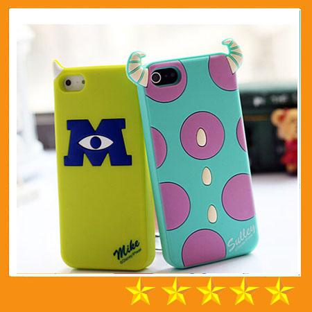 Buy 3D Cute Cartoon Back Shadow Mickey Minnie Winnie Rubber Monsters Silicone Gel Case iphone 4 4S 5S 6 6S Plus free 50
