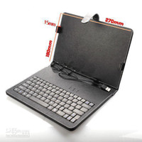 Wholesale 10 Case with Keyboard for inch Tablet PC for zenithink and flytouch superpad free shippping