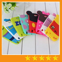 Wholesale 3D Cute Cartoon Back Shadow Mickey Minnie Winnie Rubber Monsters Silicone Gel Case For Samsung galaxy S3 S4 S5 Note free