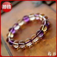 Cheap Genuine Natural Citrine Bracelet Purple Lucky transporter upscale fashion male and female models natural crystal jewelry wholesale