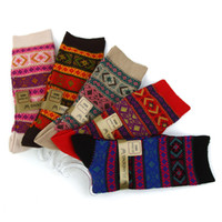 Women 100% Cashmere Over Knee Counter price of 89 yuan short series Dual cashmere yarn by Ms. Bohemian high-top socks