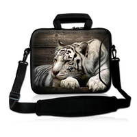 Tote apple vaio - 15 quot White Tiger Soft Neoprene Laptop Shoulder Sleeve Bag Case Handle Pocket For quot Dell HP ASUS quot Sony Vaio E Series PC