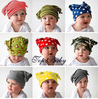 Unisex baby elf hat - Children caps new Infants and children baby elf hat pattern striped hat little styling set dandys