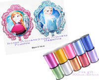Wholesale 9 off in stock Free ribbon Cartoon frozen elsa anna cm double sided aluminum mirror balloons drop shipping hot sale GX