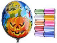 Round aluminium ribbon - 8 off IN STOCK hot sale Halloween pumpkin head hydrogen balloons Children s toys CM Free gift ribbon CM DROP SHIPPING lotGX