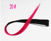 Wholesale 5pcs New quot Straight Colored Colorful Clip On In Hair Extensions Extension Clips Hairpiece