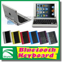 Wholesale Bluetooth Keyboard Plug in Case For iPad Air Ipad Mini1 Ipad Air Plastics ABS Stand Coloful Design Keyboard Built in Pieces Gift Box