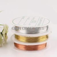 Conjunto de 5 carretes Alambre de Artesanía Flexible Flex plata, oro, No Tarnish Alambre de Cobre Antiguo (0.2-1.0mm en diámetro) tamaños y colores mezclados