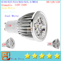GU10 E27 MR16 E14 GU5. 3 B22 Dimmable 9W 12W 15W Led Lamp 85V...