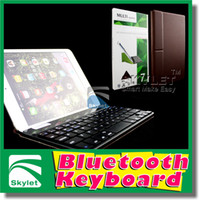 7'' abs device - For Ipad Bluetooth Wireless Keyboard For iPad Mini Ipad Air Galaxy Tab Tab S With Tansformers Leather Stand For All Mobile Device Pieces