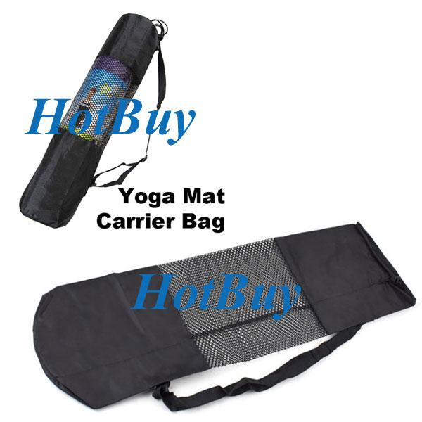 Gym Bag With Yoga Mat Slot Uk: Portable Yoga Mat Carrier Bag Workout Fitness Exercise For