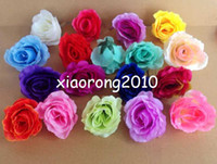 Wholesale HOT SELLING p cm Artificial Silk Simulation Flower Rose Heads Half Open Peony Rose Flower Head for Wedding Party Home Decorations