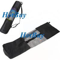 Yoga Bags Black  Yoga Train Mat Bag Exercise Fitness Carrier Nylon Mesh Washable Adjustable Strap #3210