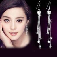 Wholesale 925 sterling silver bead earrings earrings vintage earrings tassel earrings Women