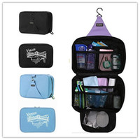 Wholesale 2014 Outdoor travel wallet large capacity Waterproof cosmetic toiletry bag wahsing makeup with hook bag