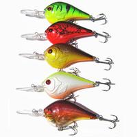 Wholesale 5pcs cm g Crankbait Fishing Lure Minnow Hooks Baits Custom Painted