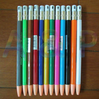 Wholesale Free ship B mm Mechanical Pencil Plastic Propelling Retractable Pencils with sharpener on the top set color