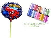 aluminum rod stock - 9 off in stock Free ribbon cm cartoon logo balloons Prop rod aluminum balloons Spiderman drop shipping hot sale GX