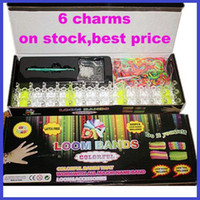 Cheap Free shipping hot best-selling loom bands kit Rainbow loom Rubber band diy woven bracelet(600pcs+24 S buckle+crochet+packing box Wholesale