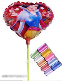 Wholesale 8 off IN STOCK cm towbar Snow White Balloon Aluminum hydrogen balloon Children s toys Free gift ribbon CM DROP SHIPPING50pcs GX