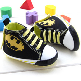 Wholesale New Batman Baby Boy High Top Toddler shoes Soft Sole Baby Learning Walk Shoes New born prewalker