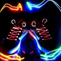 Wholesale EA14 Stunning LED Flash Light Glow Shoelaces Shoe Lace DISCO PARTY