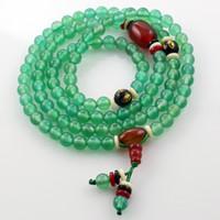 Pulsera hecha a mano étnica verde ágata + ónix grado AAA perlas de tambor pulsera de amantes de la moda pulsera DIY0181