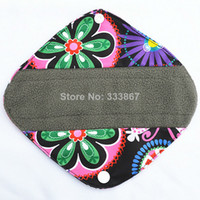 Wholesale 1 Panty Liner quot Reusable Washable Charcoal Bamboo Cloth Pad Menstrual Sanitary Maternity Mama Pads Flower