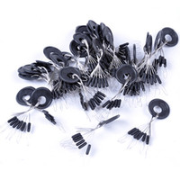 Wholesale 100set set Cylindrical Space Beans Floating Seat Fishing Pin Fishing Tackle Accessorie Lock Wire Accurate Positioning