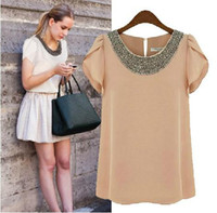 New fashion women Flounced sleeves Loose Big size chiffon ca...