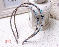 Wholesale Japan and South Korea irregular crystal hair bands hair ornaments handmade beaded headband Yiwu dollar store stall C35