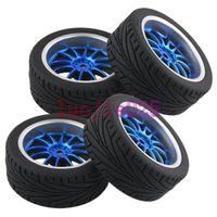 Wholesale 4PCS RC On Road Car Rubber Foam Sponge Liner Tires Tyres Wheel Rim Navy Blue mm HEX Fit HSP HPI REDCAT