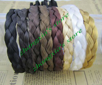 Wholesale 8 Color Optional CM Width Braided Plaited Hairband Hair Band Headband Braid Plait Hair Accessory Brand New