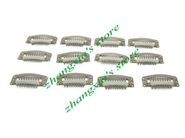 3.2cm Hair Clips for Hair Extension,Toupees Clips,Wig Clips,Hair Extensions Tools,Brown Color,9Teeth,100pcs,Free Shipping