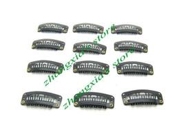 Brand New 3.2cm 6 Teeth Hair Clip for Hair Extensions,Toupees Clips,Wig Clips,Hair Extensions Tools,Black,100pcs,Free Shipping