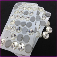 Wholesale 8mm mm mm mm mm mm round Glass crystal rivoli sew on rhinestone mm in clear color super shiny for clothing
