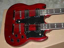 NEW Custom Shop 1275 Red Double Neck Electric Guitar 6 12 strings Guitar High Quality Free Shipping