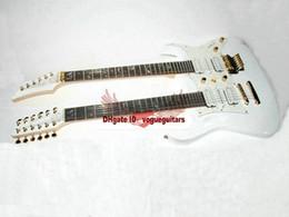 Guitare double goulots à vendre-blancs personnalisée Double Neck 6/12 cordes de guitare électrique L'arbre blanc de la vie OEM disponible