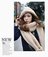 Wholesale Solid Charming Scarf Hat Gloves Sets Women Fashion Chevron Lovely Solid Hood Scarf Gloves Price