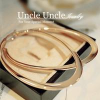Wholesale Classic Elliptical Shape Design K Rose Gold Plated Timeless Styling Lady Trendsetter Hoop Earrings