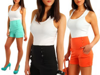 Wholesale Summer New Ladies High Waisted Shorts Womens Hot Pants size XS XL KZ4206