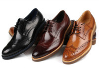 Wholesale Authentic qiu dong the euro trend of the wind business is hollow out man wingtip shoes head layer cowhide