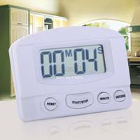 Wholesale New White Mini LCD Digital Kitchen Timer Count Up Down Magnetic Electronic Alarm Clock Cooking Timer