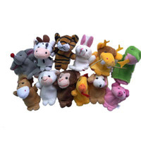 Unisex 0-12 Months Gray 12 pcs lot Finger Plush Puppet The 12 Chinese Zodiac Story Telling Dolls Support Children Baby Educational Toys X1515