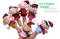 Unisex 0-12 Months Multicolor 6Pcs Happy Family Educational Story-telling Toy Soft Plush Puppet Finger Toys For Children 8453