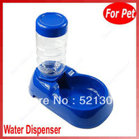 Feeding & Watering Supplies D1545-B Dogs Free Shipping Pet Dog Cat Automatic Water Dispenser Food Dish Bowl Feeder Blue New