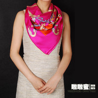 Silk Large square 100cm ( included )-150cm ( not included) Lala honey equestrian guide new large square silk satin twill silk scarves scarf shawl