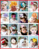 Headbands Cotton Floral Fedex EMS DHL Ship new baby flower headbands colorful flower baby head clips headband hair cute 60 design can choose freely 100pcs lot melee